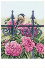 Backyard beauties - chickadee  22 x 27 cm